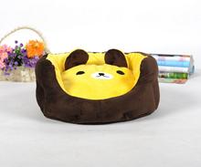 Осень зима кота собаки любимчика мода мультфильм дом щенок теплый мягкий питомники щенок помет собаки кошки кровать домашних животных поставляет 1 шт. S M