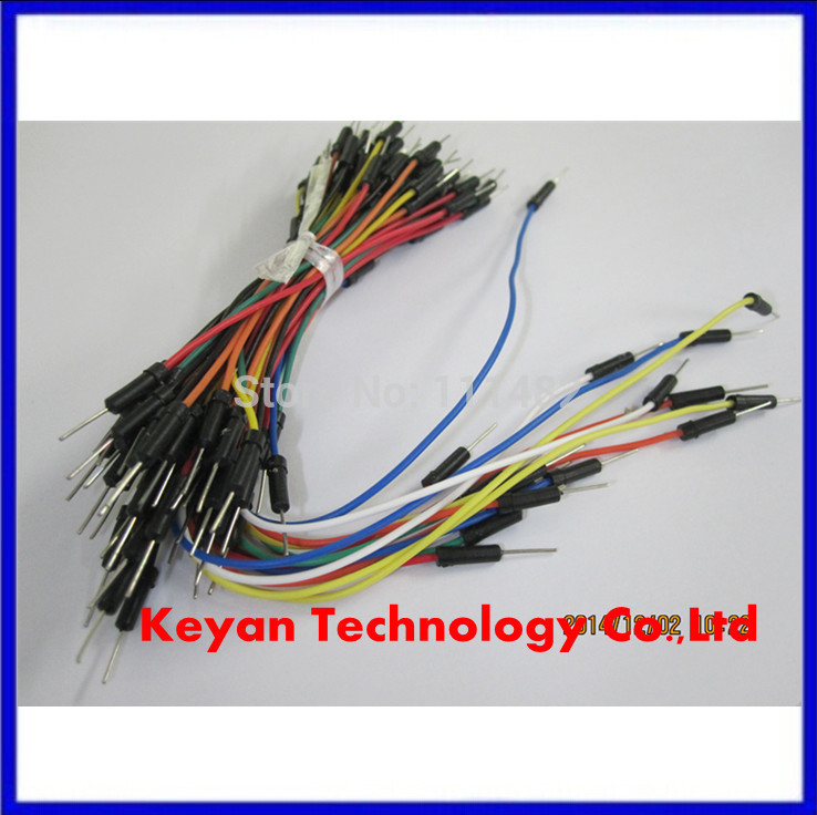 Free Shipping 65pcs*3=195pcs Solderless Flexible Breadboard Jumper wires Cables dupont line test cable HOT Sale High quality(China (Mainland))