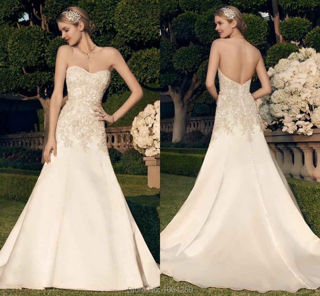 Casablanca wedding dress 2015 sweetheart off shoulder for Casablanca wedding dresses 2015