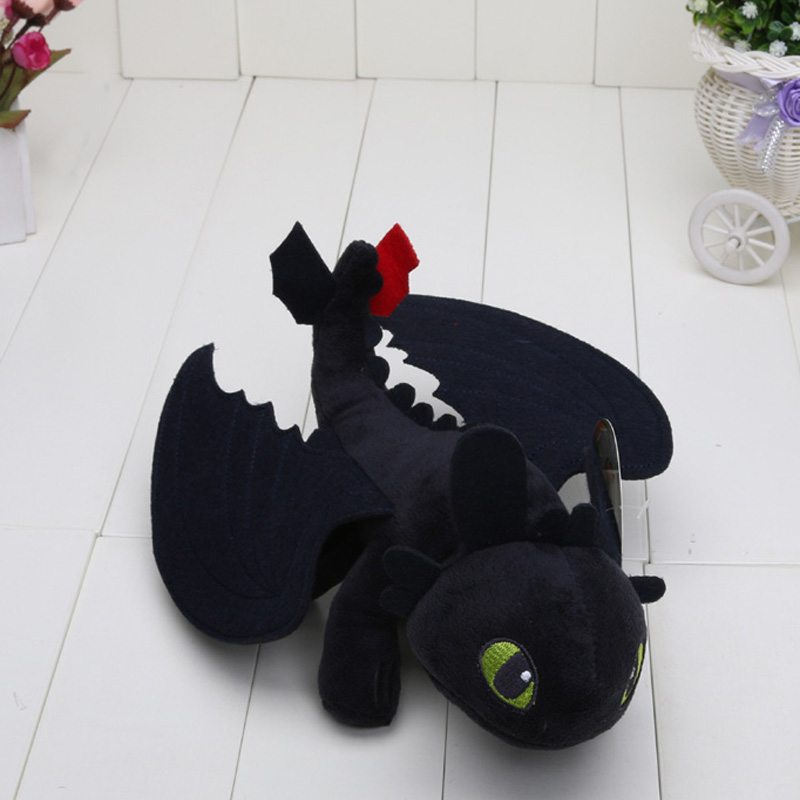 23cm Night Fury Plush Toy How to Train Your Dragon Toothless Toys Plush Dolls Toys for baby boys girls kids children(China (Mainland))