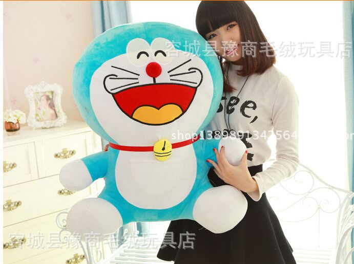 stuffed toy laughing design Doraemon large 60cm plush toy soft throw pillow,birthday gift h464(China (Mainland))