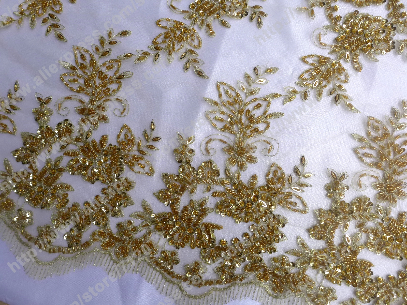 Embroidery lace fabric by the yard for Cloth by the yard