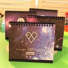 New 2015 Cute Cartoon Kawaii Star Paper Table Desk Calendar Korean Statioenry Office Supplies Free shipping 752(China (Mainland))