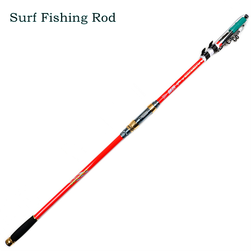 Daijia superhard surf rod 3 6 3 9 4 2 4 5 m carbon for Surf fishing tackle