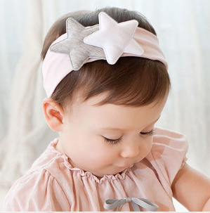 2pcs Cotton Baby Headband 2016 Double Star Korean Kids Hair Band Fillet Enfant Fancy Gift Head Band Accessories Hairband Cabelo(China (Mainland))