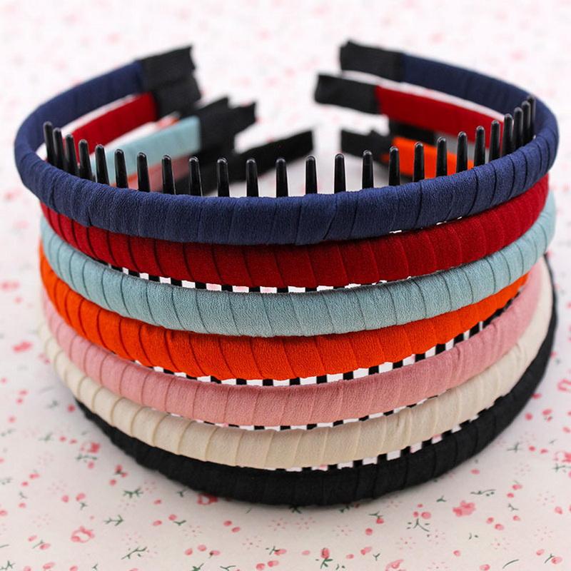 Ribbon Decorationo Comb Headband with Teeth Plastic Hair Band for Girls Women Hair Ornaments HW177(China (Mainland))