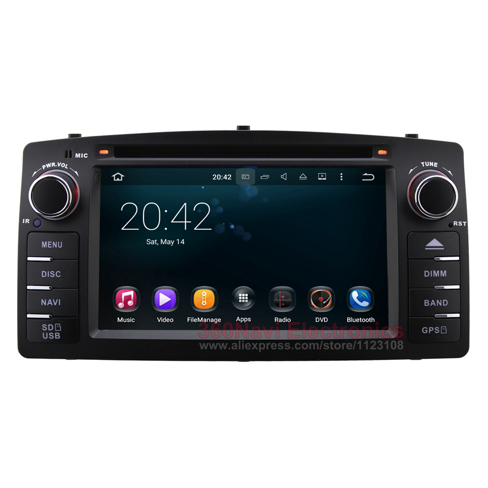Android 5.1 Car DVD GPS for Toyota Corolla E120 2003-2007 / BYD F3 old with BT Radio RDS Wifi Mirror-link Free 8GB Map card(China (Mainland))