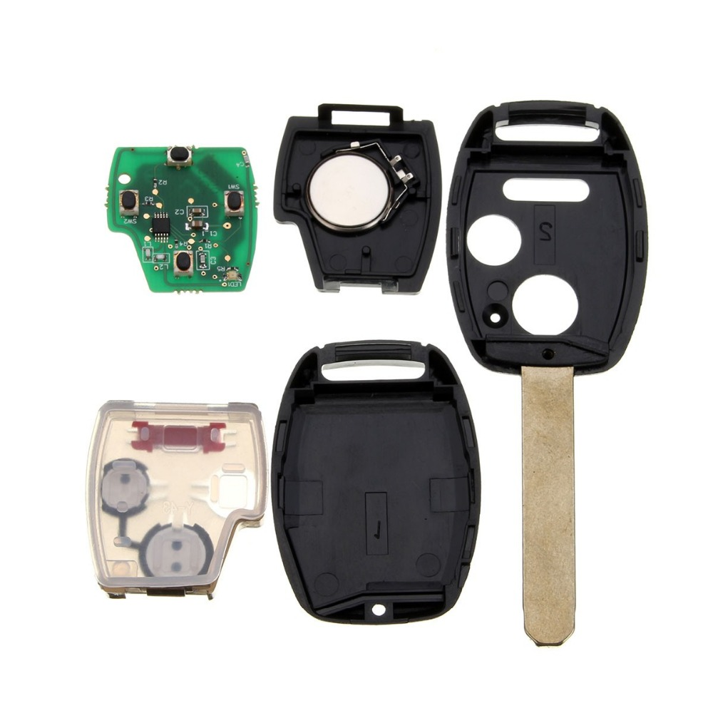 2003-2007 3 (2+1) Buttons Key Entry Fob Car Alarm Case Remote Key with Chip ID46 433 MHz for Honda /Accord FIT /Civic /Odyssey(China (Mainland))