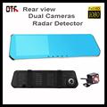 1080P Full HD Rear view Mirror Car DVR Radar detector 5 0 LCD display dual lens