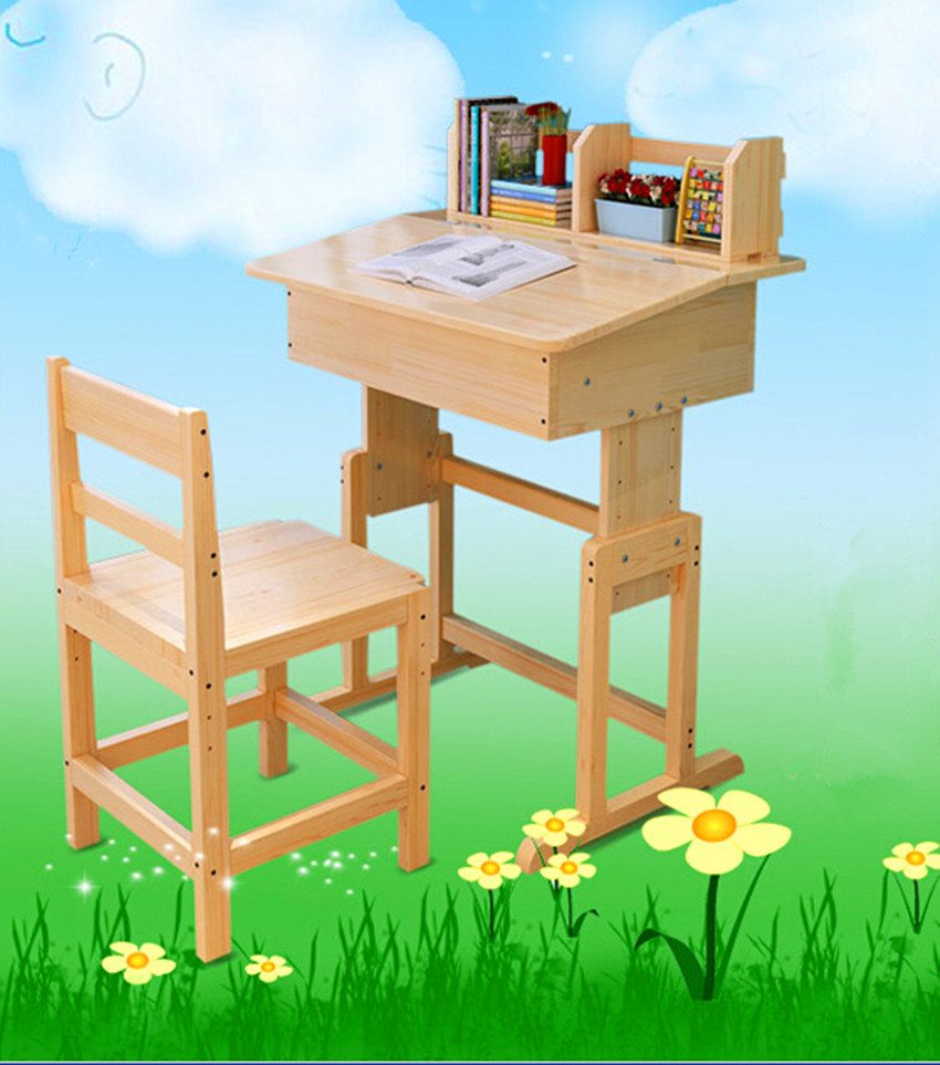 Study Table Chair Set : Kids Wooden Study Table and Chair Set Study Desk Set Wood Furniture ...