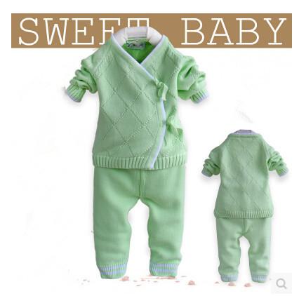 Теплый свитер ребенка зима джемпер свитер костюм осенью шнуровка младенческой свитер ...