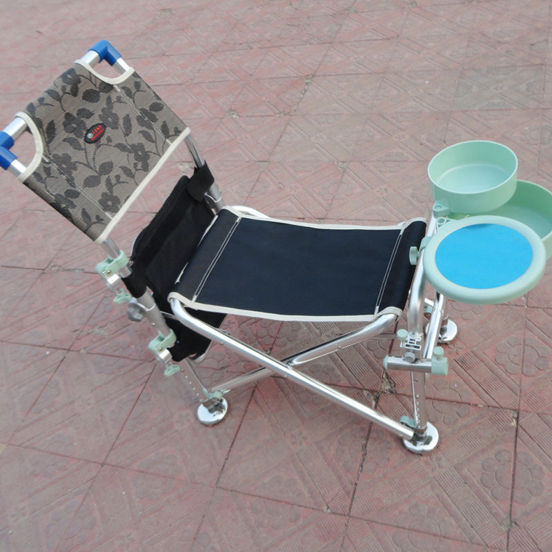 outdoor fishing camping beach chair with bait tray floding stool Aluminum leisure