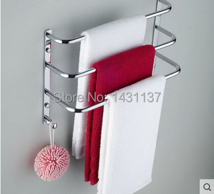high quality brass material three layer chrome plating Wall Mount towel rack bathroom accessories(China (Mainland))