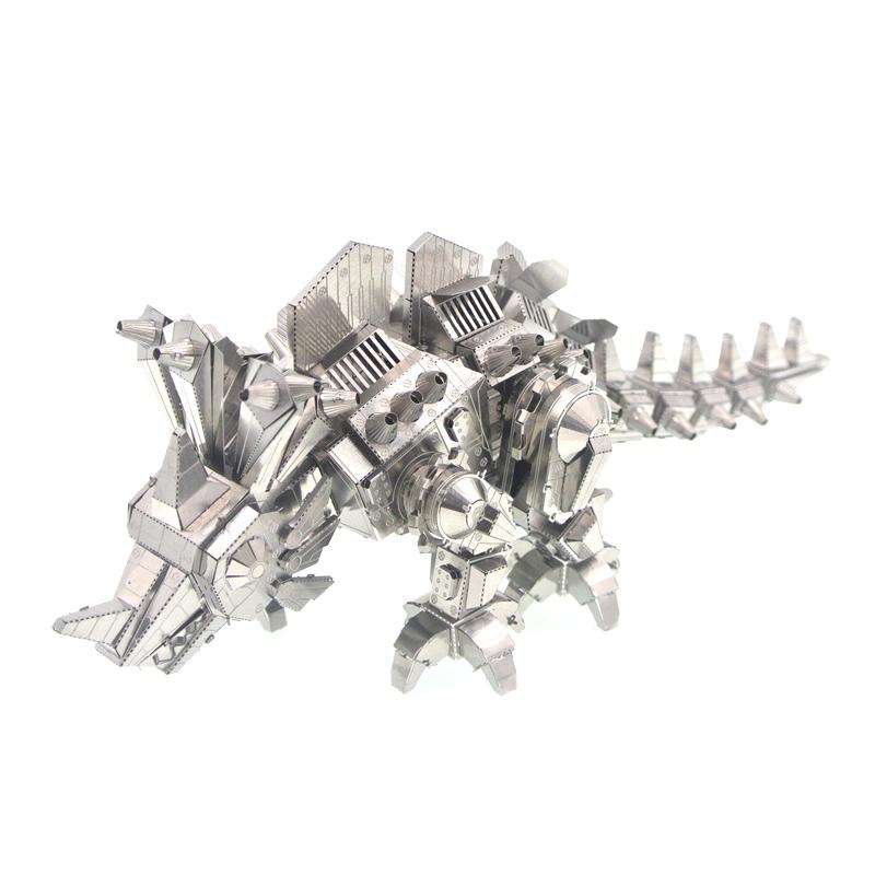 3D Metal Puzzle Dinosaur Locke DIY Assembly Model Kids Stainless Steel Laser Cutting Animals Jigsaw Toys Juguetes Educativos(China (Mainland))