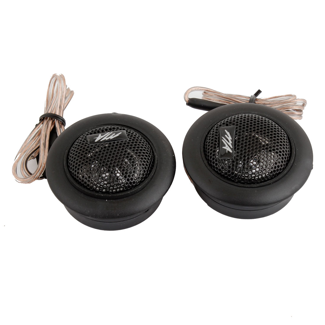UXCELL 2 X 12V 120W Flat Mounted Plastic Dome Tweeter Speaker Black For Auto Car(China (Mainland))
