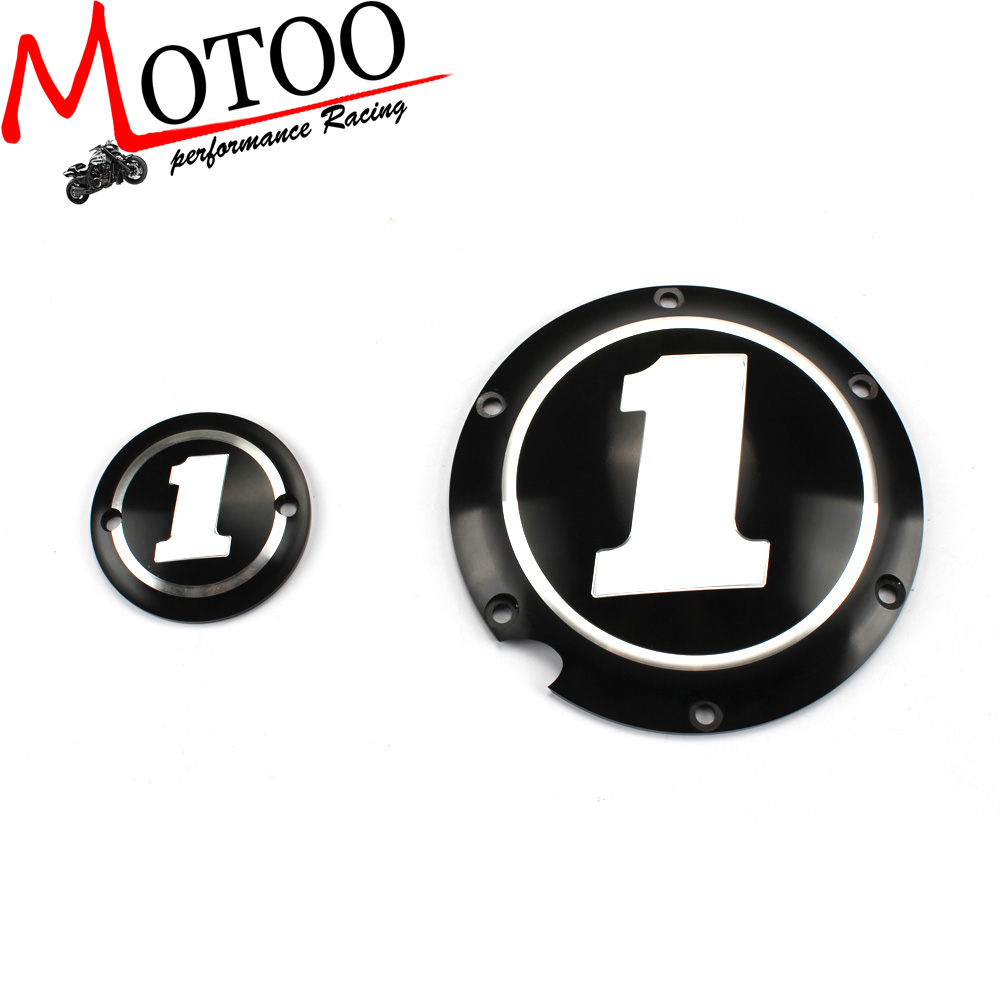 Motoo - BLACK DERBY & TIMING TIMER COVER FOR HARLEY MOTORCYCLE XL XR SPORTSTER 883 1200(China (Mainland))