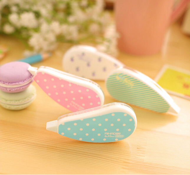 Гаджет  2X Aihao Stationery Candy Color Kawaii Korean Floral Correction Tape Papeleria fita corretiva School Office Supplies Corrective None Офисные и Школьные принадлежности