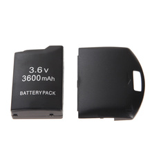 NI5L3600mAh Rechargeale Battery Pack+Back Cover Case for Sony PSP 1000 Free Shipping