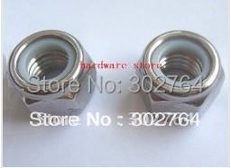 M6*100PCS SS316 DIN985 NYLON NUT STAINLESS STEEL fastener,marine boat hardware lock nut