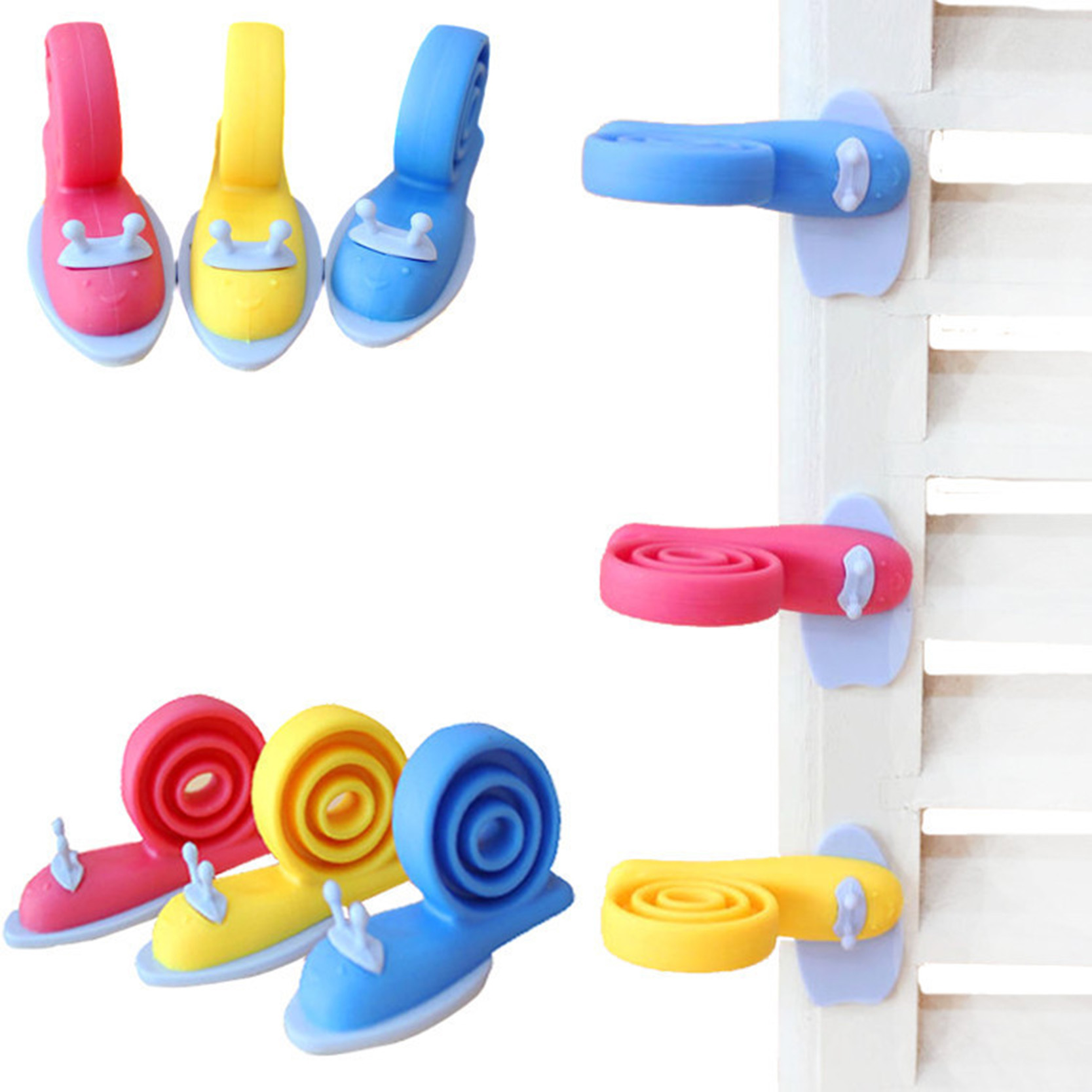 Гаджет  3pcs Random Color Baby Helper Safety Door Stop Finger Pinch Guard Child Kid Infant Cute Safety Protector Doorway Stopper None Детские товары