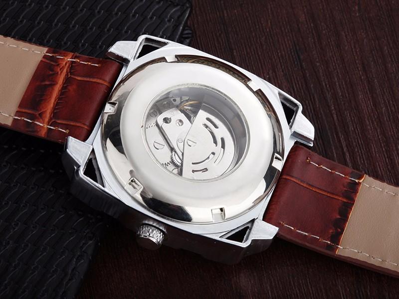 WHATCH Мужские Механические Vintage Автоматические часы Мужчины часы Мода Кожаный ремешок Часы китай известный бренд водонепроницаемый наручные часы