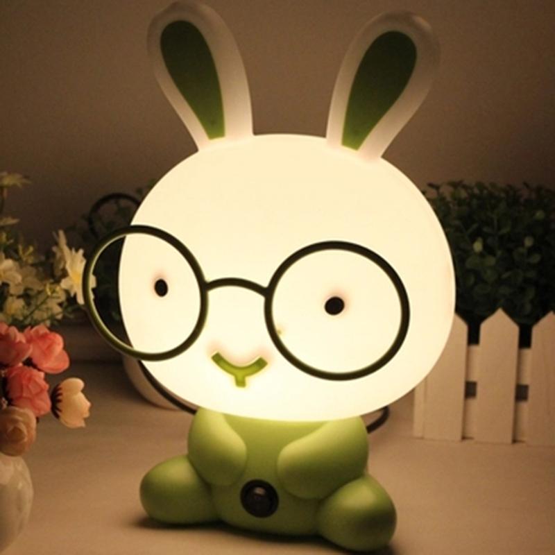 Lovely PVC Plastic Baby Bedroom Cartoon Animal Rabbit Sleep Led Night Light Bulb luminaria Panda nightlight for Children(China (Mainland))