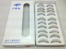 10 pais handmade cross false eyelashes on natural cross curling electric eye lashes(China (Mainland))