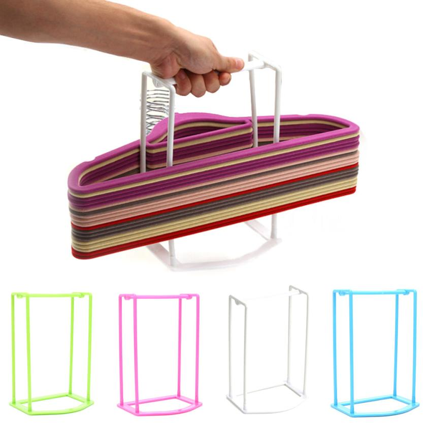 New Qualified Plastic Hangers Creative Finishing Frame Hanger Companion Storage Rack dig638(China (Mainland))