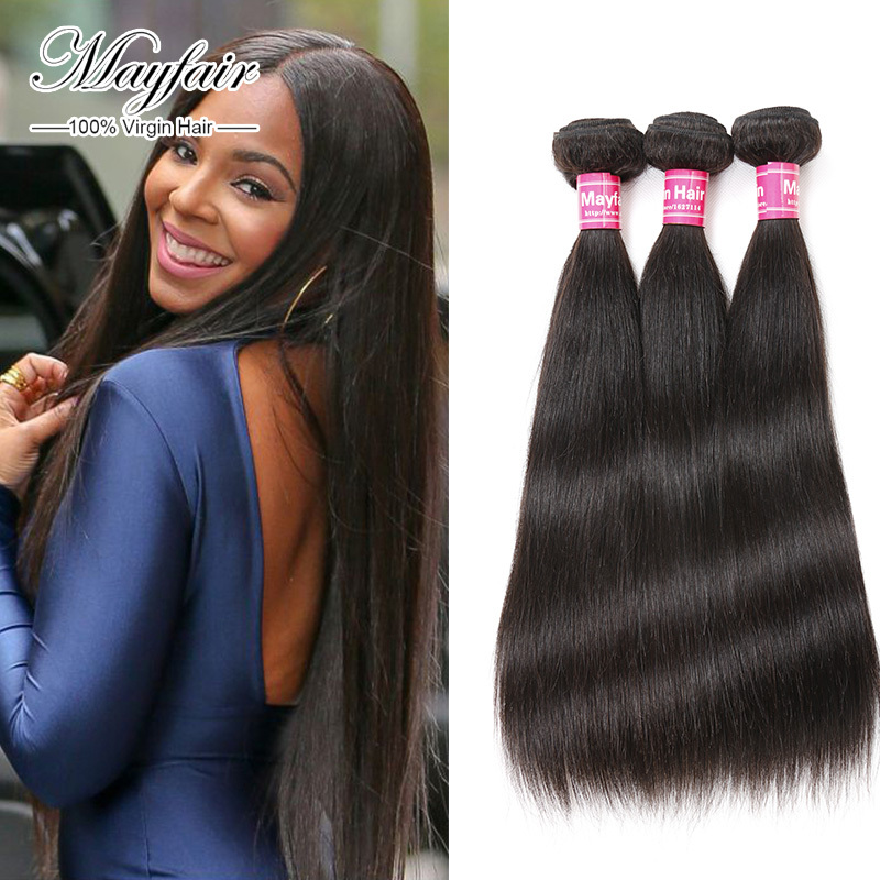 mayfair hair products 6A Unprocessed indian straight virgin hair indian straight hair 3 bundles100 human hair sew in extensions(China (Mainland))