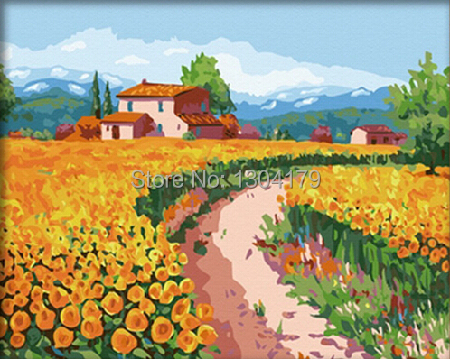 Sunflower Paint by Number Kit Painting by Numbers Kits
