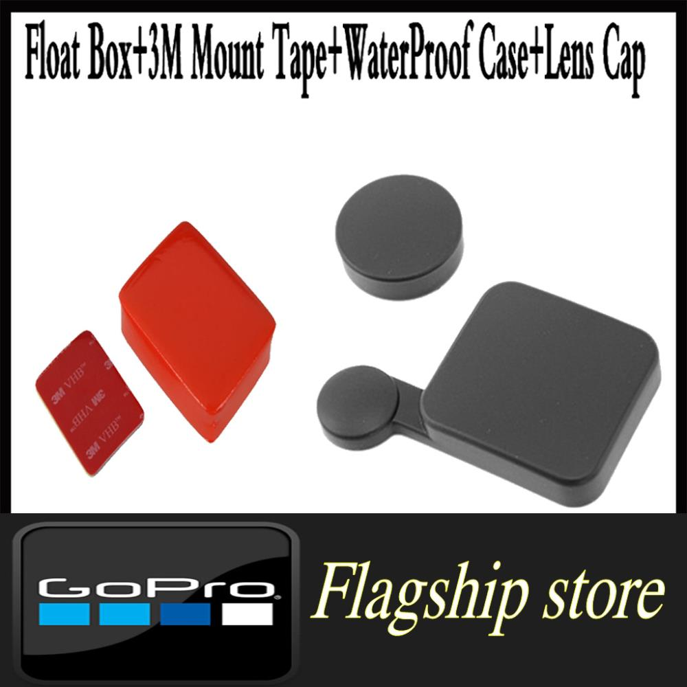 Gopro accessories Floaty Float Box 3M Mount Tape hero 3 black edition WaterProof Case Cover Protector Lens Cap - Smart Living Center store