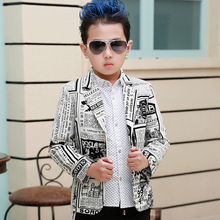 Children's clothing male child 2015 spring and autumn boys suits boys outerwear blazers boys poster blazers coats jackets