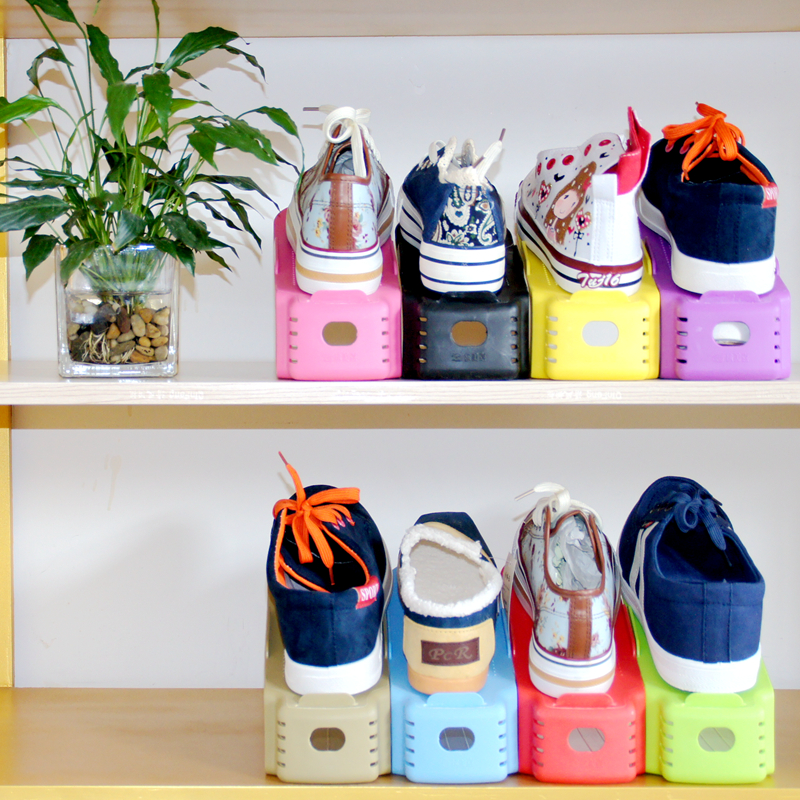 Na -one double shoe storage simple plastic rack 10 loaded<br><br>Aliexpress