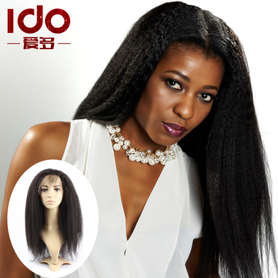 7A Brazilian Kinky Straight Wig For Black Women Yaki Straight Glueless Full Lace Wig Best Human Hair Lace Front Wigs Free Ship<br><br>Aliexpress