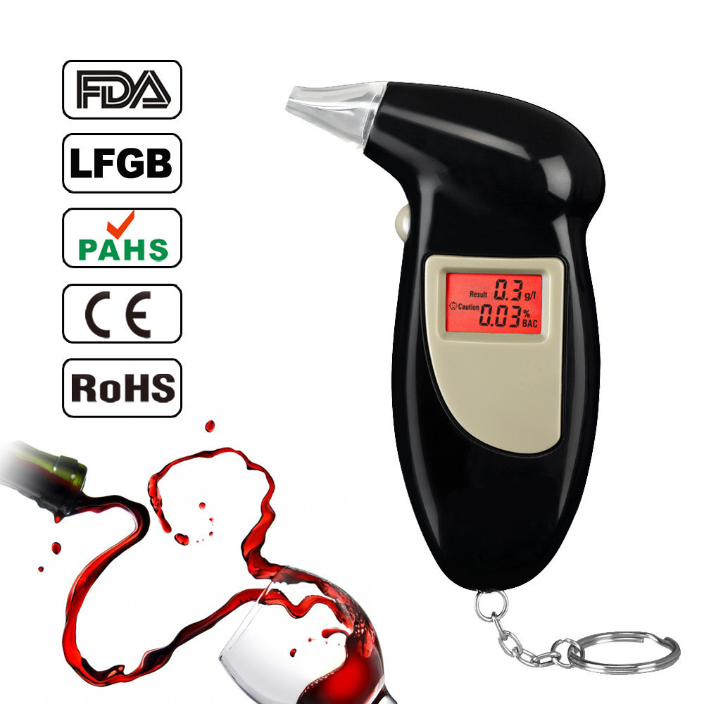 wholesale high precision digital disposable breathalyzer Alcohol Tester(China (Mainland))