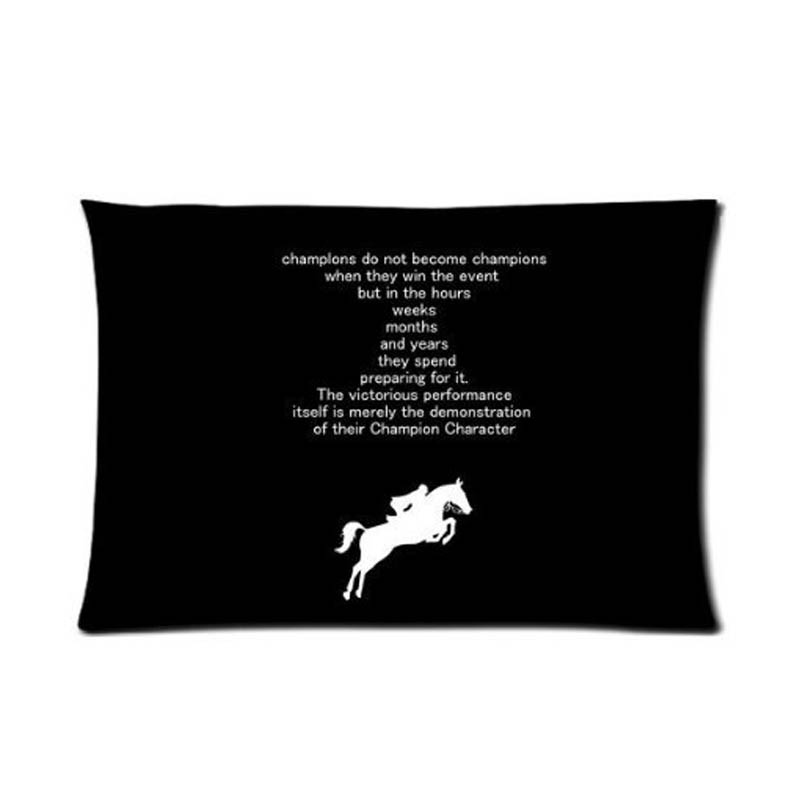 Hipster Simple Horse Personalized Funny Rectangle Pillow Case Invisible Zippered Design