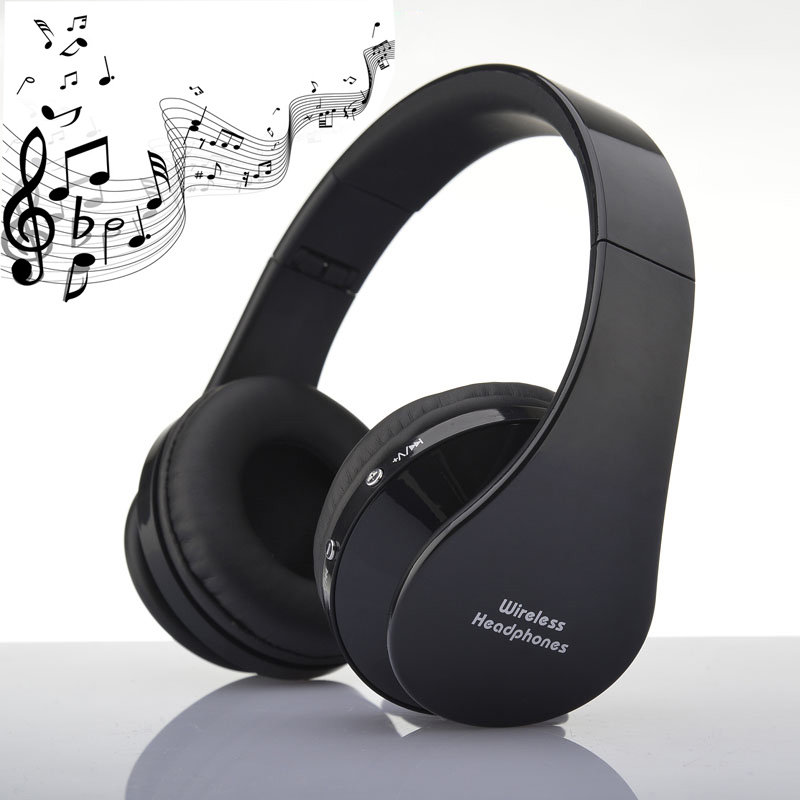 2016 New Christmas gift Foldable High Fidelity noise isolating Stereo Wireless Bluetooth Headset Headphones Earphone with Mic