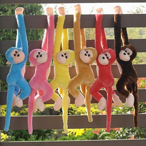 2016 New Cute Screech Monkey Plush Long Arm Animal Toy Doll Gibbons Valentines Day Gift(China (Mainland))