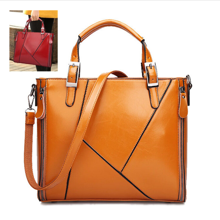Гаджет  2015 real pu leather bags women handbag fashion designer brand high quality Mosaic of ms office package messenger shoulder bag None Камера и Сумки