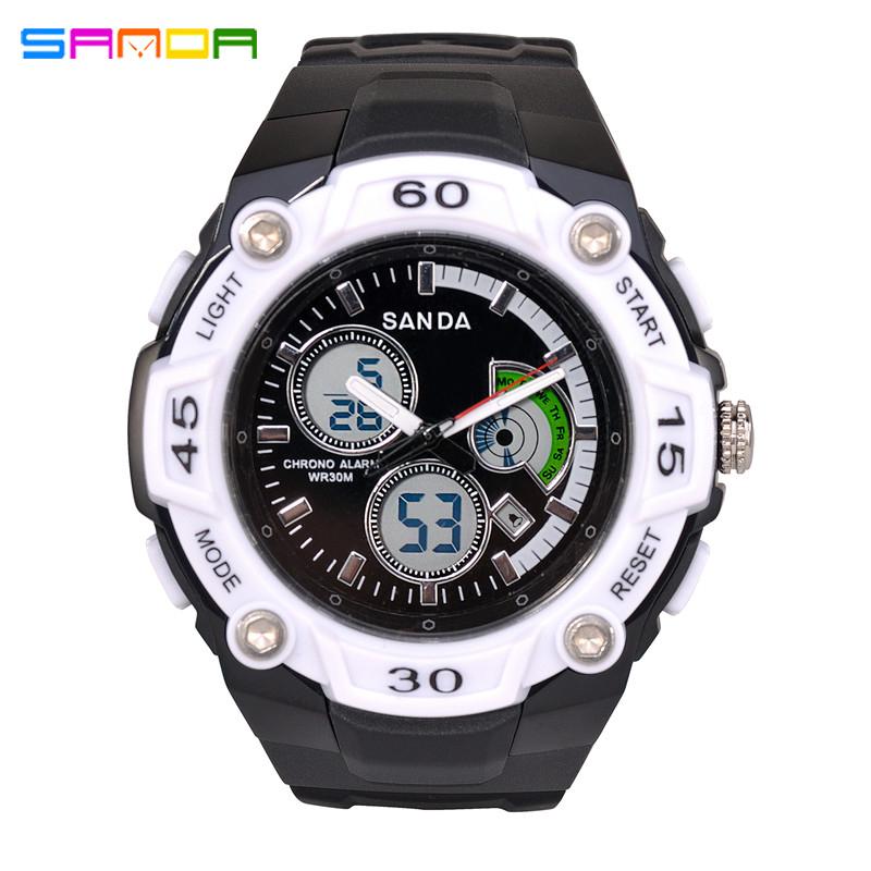 SANDA Luxury Brand Men And Sports Watches Fashion Casual LED Digital Military Watch Men Relogio Masculino For Mens Quartz Watch(China (Mainland))