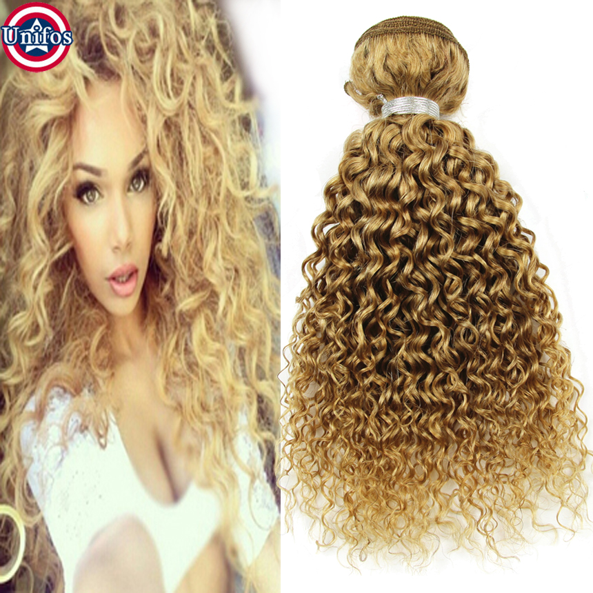 Peruvian Curly Blonde Weave 3pc Honey Blonde Curly Human Hair Extensions Tissage Blonde Virgin Peruvian Curly Hair Weave Bundles