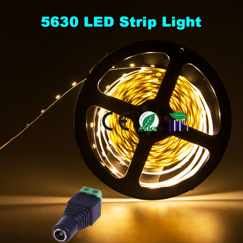 waterproof flexible 72w 12v 300leds 5m smd 5630 led strip light rope. Black Bedroom Furniture Sets. Home Design Ideas