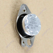 J34 Free Shipping 10pcs/lot KSD301 85degree Normal Close NC Temperature Controlled Switch Thermostat 250V 10A(China (Mainland))