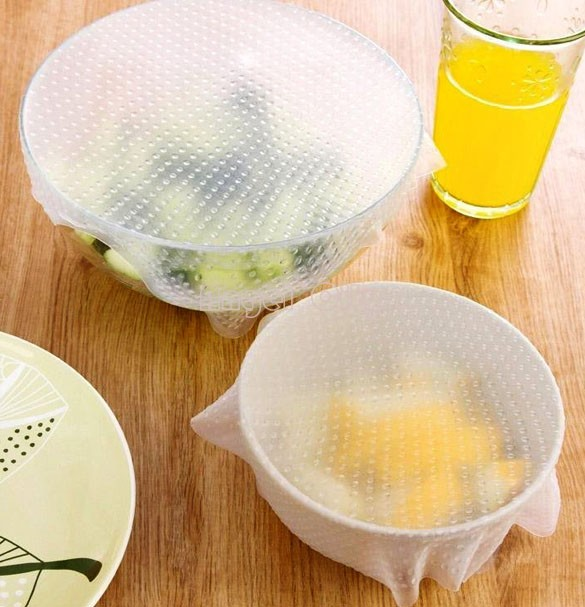 Hot Vacuum Silicone Food Fresh Storage Wrap Clear Magic Seal Cover Multifunctional Stretch Cling Food Film 35(China (Mainland))