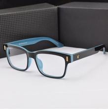 2015 New Arrivals V logo fashion spectacle frame oculos de grau optical computer eye glasses for femininos/masculino gift