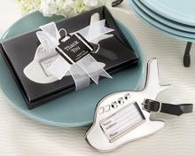Wedding Favors Airplane Luggage Tag Chrome Handbag Tags Bridal Shower Favors Luggage Tags+100pcs/lot(China (Mainland))