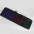שלושת צבע פולטות אור כבל USB תאורה אחורית של מקלדת טריקולור מתג בהירות מתכווננת E-ספורט gaming keyboard