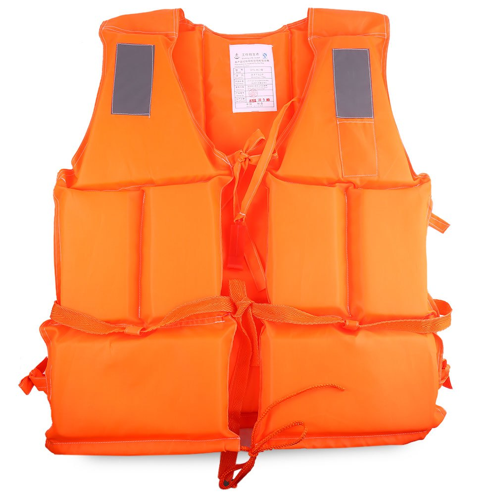 1 Pcs Adult Foam Life Jacket Vest Flotation Device + Survival Whistle Prevention Flood Fishing Rafting Drift Sawanobori Orange(China (Mainland))