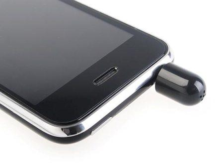 Mini Rap Cap Mic Microphone Voice Recorder For iPhone 3G 3GS 2G 1G iPod Touch(China (Mainland))