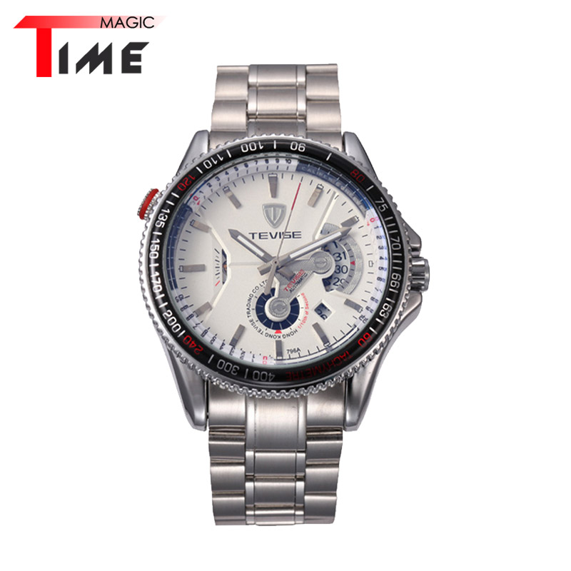 [Time Magic] Vintage Watches for Mens Mechanical Noctilucent Pointer Auto Date Business Wristwatch Fashion Clock<br><br>Aliexpress